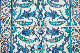 historical traditional handmade tiles islamic ornaments stock