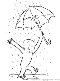 curious george rain coloring page free curious george coloring