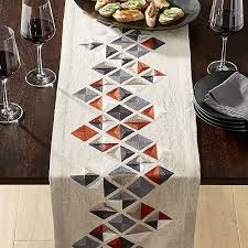 crate and barrel table runner gravel 90 embroidered table runner reviews crate and barrel