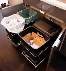 uncategories pull out trash can with lid kitchen trash bin