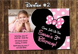 minnie mouse photo birthday party invitations mickey diy