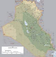Arizona Elevation Map by Maps Of Iraq Detailed Map Of Iraq In English Tourist Map Of