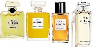 quels flacons de parfums eau chanel n 5