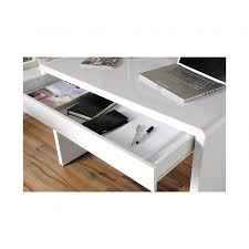 White Computer Desk Luxor Gloss Workstation Desk With Hidden Drawer White Home