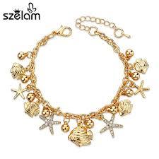 star bracelet charm images 2017 crystal fancy star chain link trendy bracelets for women jpg