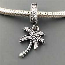 fits for pandora charm bracelets original coconut tree pendants