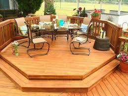 exteriors dazlling backyard wood deck ideas with unique baluster