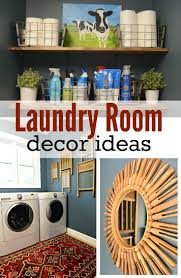 Laundry Room Decorations Laundry Room Makeover Reveal Decor And The