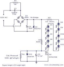super bright led night light electronic circuits and diagram