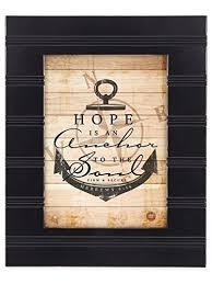 Love Anchors The Soul 8x10 - hope is an anchor hebrews 6 19 black 8 x 10 sentimental framed art