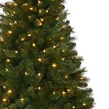 artificial christmas tree with lights 6 5 ft pre lit led wesley artificial christmas tree with color
