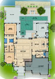 contemporary style house plan 4 beds 6 baths 6300 sq ft plan