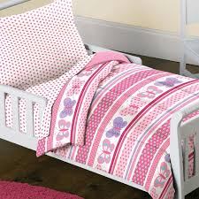Butterfly Nursery Bedding Set by Amazon Com Butterfly Dots Pink Girls 4 Piece Toddler Bedding Set
