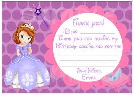 printable thank you cards princess sofia the first thank you cards printable 11 best princesssofia