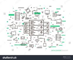 Server Room Floor Plan by Linear Data Center Server Park Hosting Stock Vector 374603026