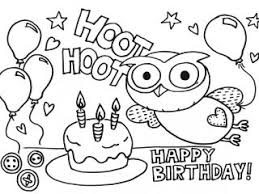 happy birthday coloring pages printable 97 free