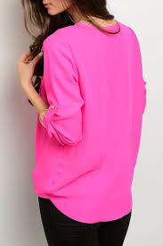 neon blouse letter fuchsia neon blouse from jersey by the g g s big