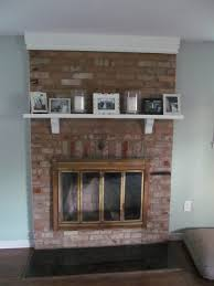 wood over brick fireplace on a budget fresh to wood over brick