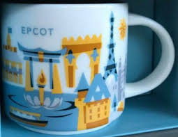 you are here disney epcot 3 starbucks mugs