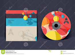 cd cover design template stock vector image of illustration