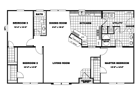100 mobile home floor plan the la sierra ft32763a
