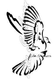 flying dove design