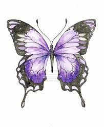 violet swallowtail butterfly tattoo commission by