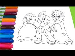 alvin chipmunks coloring color alvin simon theodore