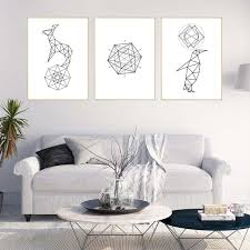 geometric home decor geometric canvas art print poster abstract minimalist home decor