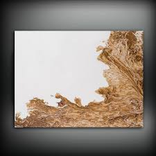 brown and white painting 30x40 abstract painting copper painting
