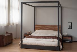 zebrano cube 4 poster bed 4 poster beds natural bed company