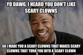 Scary Clown Memes - 20 scary clown memes that ll haunt you at night word porn quotes
