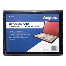 diploma holder advantus certificate holder black with lining
