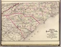 road map of south carolina and south carolina david rumsey historical map collection