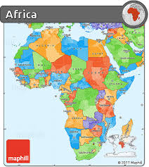 africa map high resolution free political simple map of africa