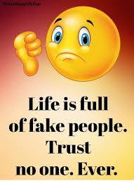 No Trust Meme - appylifepage life is full of fake people trust no one ever fake