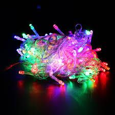 christmas tree led string lights eu us plug waterproof 20 100m 200