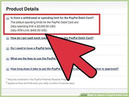 how to obtain a paypal debit card with pictures wikihow