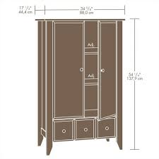 Shoal Creek Bedroom Furniture Armoire In Jamocha Wood 409934