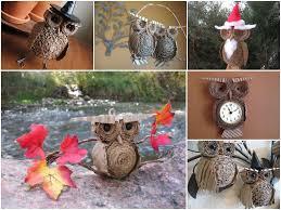 upcycled cardboard owls recyclart