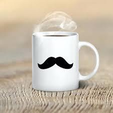 graphic coffee mug mustache on coffee mug dog lover coffee mug