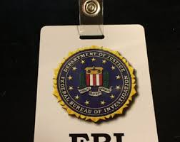 Fbi Halloween Costume Fbi Badge Etsy