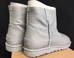 s ugg mini boots ugg australia unlined mini metallic silver s 1018412