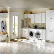 simple white ikea laundry room set with french door plus flax wall
