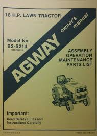 agway lawn garden tractor owner u0026 parts manual 36pg riding mower