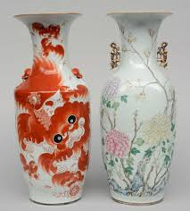 chinese vase appraisal 51bidlive a chinese vase iron red decorated with fu lions