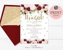 girl baby shower invitations baby shower invitation girl girl baby shower pink and gold