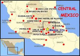 map central mexico central mexico map