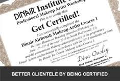 professional makeup artist certification airbrush makeup classes dinair workshop with on