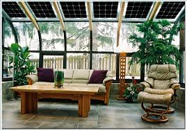 outdoor living unique sunroom design with top glass ceiling and